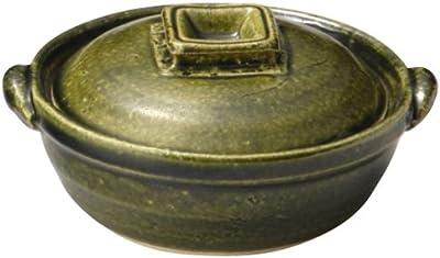 三陶 萬古焼 土鍋 4号 12.5cm ひとり 中深 オリベ 11335
