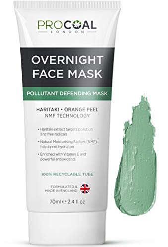 Overnight Face Mask, Hydrating Anti-Pollution Sleep Mask 70ml by Procoal -...