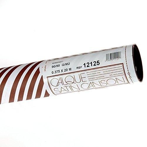 Canson 200012125 - Hochtransparentes Zeichenpapier, 0.375 x 20 m