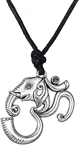 NC198 Collar clásico de Tendencia Retro con Personalidad de Moda para Mujer Collar con Colgante de Elefante Retro fácil de Combinar