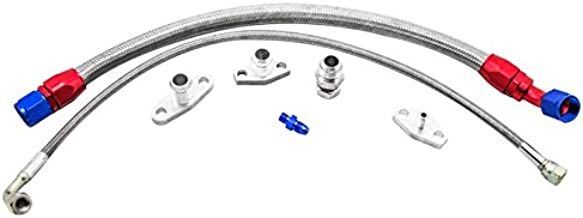 CXRacing Turbo Oil Line Feed and Drain Return Kit For 1990-2005 Mazda Miata NA NB 1.6L Engines