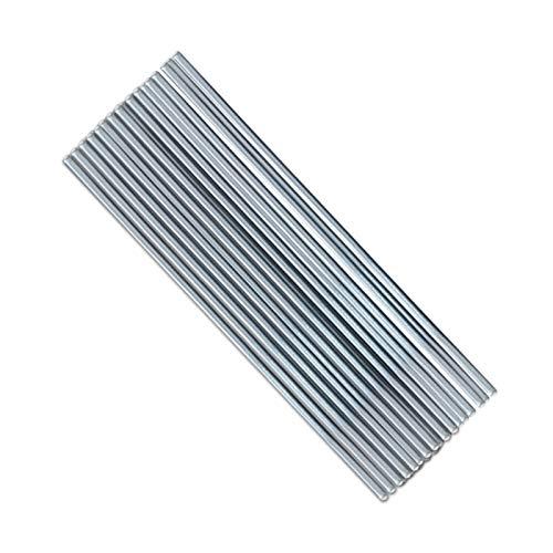 LRrui-Alambre resistente 10 unids / set a baja temperatura Fácil de derretir de aluminio Barras de soldadura de aluminio Barras de soldadura Barra de alambre de aluminio para soldar No necesita soldad