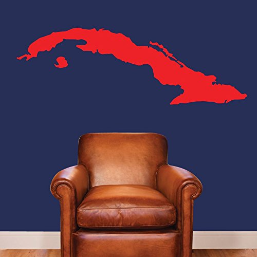 Cuba. - 0423 - Home Decor - Wall Decor - Cuban - Map - Country Decal - Geography - República de Cuba