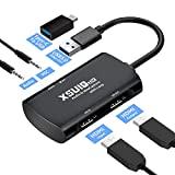 HDMI Capture Card Audio and Video Capture Card to USB 3.0, Game Capture Device with1080P 60FPS Dual-Screen Mode, Suitable for Windows MacOS Linux PS4 Nintendo Switch Xbox One Real-time Streaming
