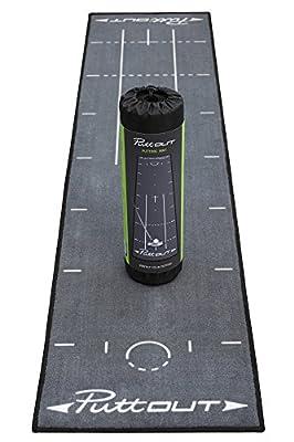 PuttOut Pro Golf Putting Mat - Perfect Your Putting (7.87-feet x 1.64-feet) (Gray)