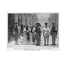 Suuyar メキシコ革命1913年エミリアーノサパタの家族が囚人としてメキシコシティに持ち込まれたポスターキャンバス絵画壁アート写真家の装飾-50X70Cmフレームレス