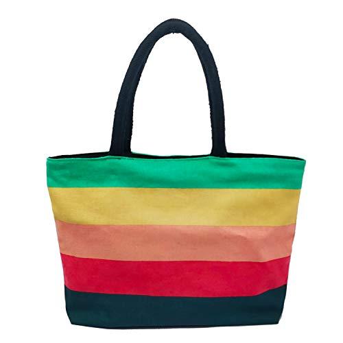 Greencraft Bolsa de mano para mujer - tela de lona impresa (tamaño: 14 x 12 x 2 pulgadas), paquete o f 1