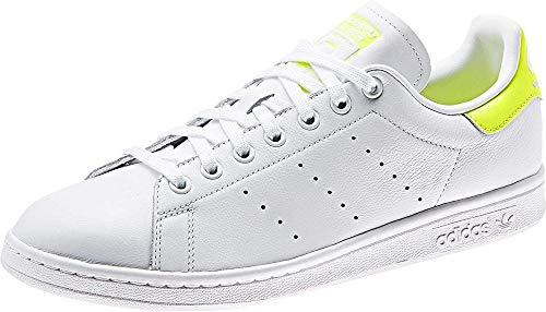 adidas Stan Smith, Scarpe da Ginnastica Uomo, Bianco (Ftwr White/Solar Yellow/Ftwr White Ftwr White/Solar Yellow/Ftwr White), 36 2/3 EU