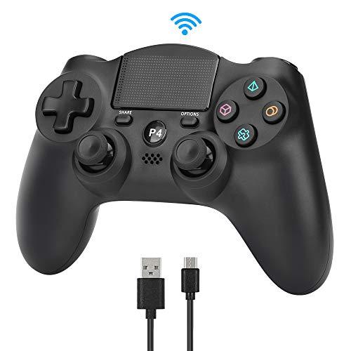 yidenguk Mando Inalámbrico para PS4, Gamepad Wireless Bluetooth Controlador Joystick con Vibración Doble Remoto con Touch Pad Audio Jack Joysticks Compatible con Playstation 4 Controller