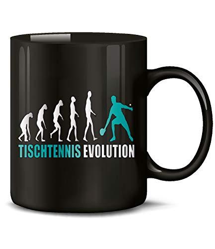 Golebros Tischtennis Evolution Sport 547 Geburtstag Geschenk Fun Tasse Becher Kaffeetasse Kaffeebecher Schwarz Zubehör Training Artikel