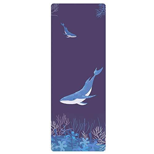HSJ LF- Yoga Mat Principiantes Alargado Antideslizante Hombres y de Mujeres Espesado Ensanchamiento insípido Aptitud Yoga Mats Antideslizante (Color : Dark Blue)