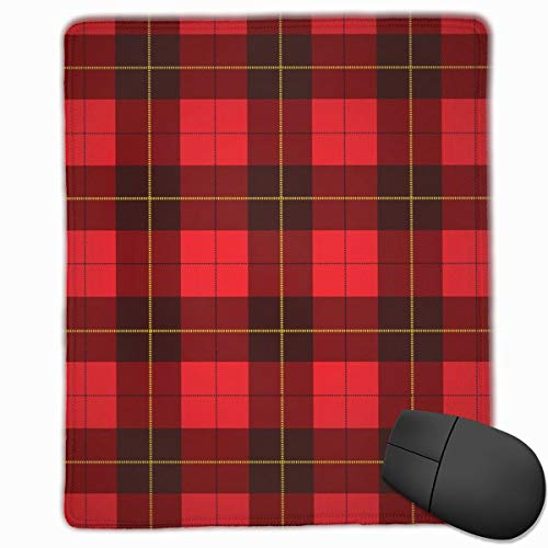 YGVDSE Rubber Mousepad Wallace Tartan Scottish Plaid Background 18 X 22 cm Soft Cloth Gaming Mouse Pad with Smooth Non Slip Base