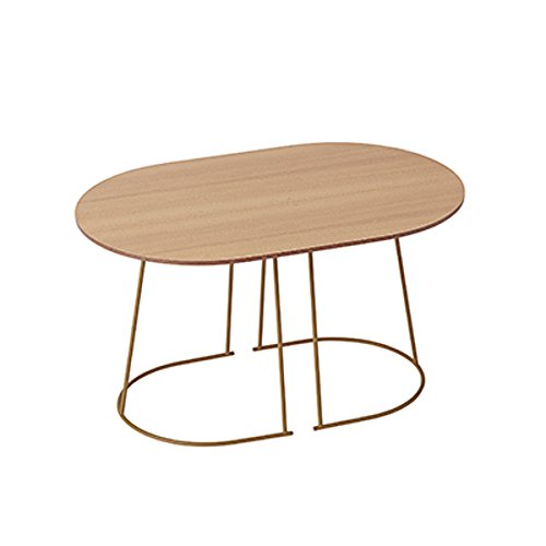 Muuto - Beistelltisch - Airy Coffee Table - small 44 x 68 x 37,2 cm - Oregon Pine (17211/17181) - Sperrholz (Fundermax), Stahl