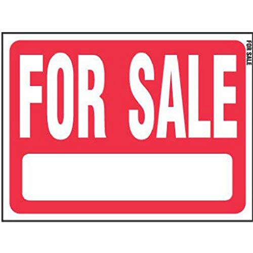 Hy-Ko RS-604, Red Sale Plastic Lawn Sign, 18' by 24'