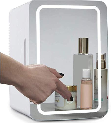 Taek-cheon Refrigerador de Espejo, Pantalla táctil LED Mini refrigerador, Dormitorio Mini refrigerador, Cosméticos de Belleza y Productos para el Cuidado de la Piel Mini refrigerador