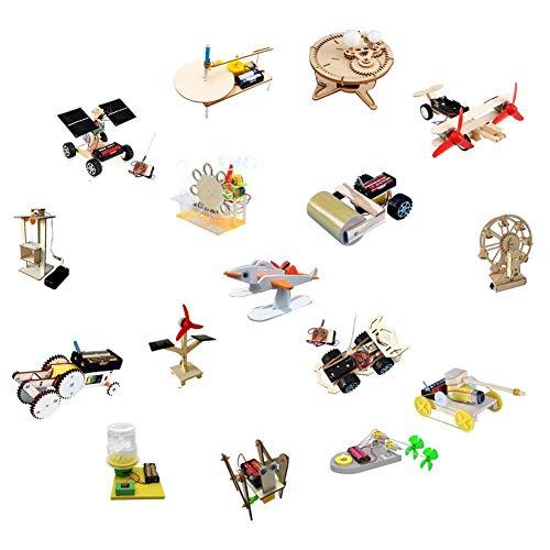 Juego de Juguetes, información Juguete Colorido de Bricolaje para el Desarrollo Intelectual del niño(Elementary School Set Six [16-Piece Set], Blue)
