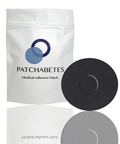 Medtronic Guardian Sensor Tape, Libre Freestyle Sensor Covers Waterproof, Hypoallergenic, 20-Count (Black)