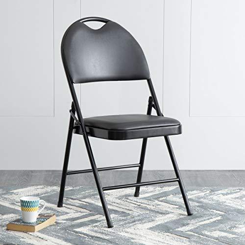 Home Centre Lex Metal Solid Folding Chair - Black