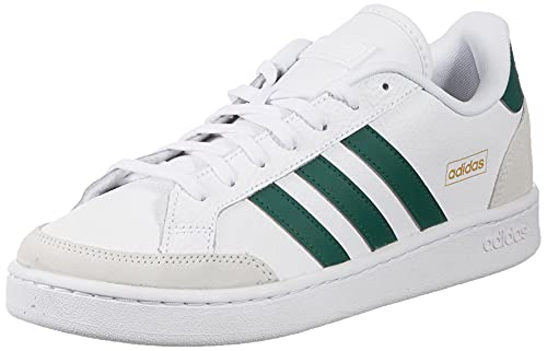 adidas Grand Court SE, Scarpe da Tennis Uomo, Ftwr White/Collegiate Green/Orbit Grey, 43 1/3 EU