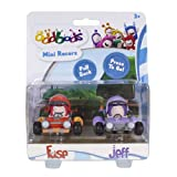 Oddbods Mini Racers Fuse & Jeff - Kids Figurine Toy Cars for Boys and Girls, Set