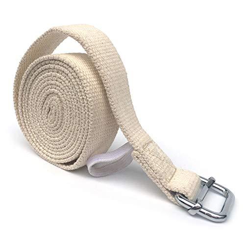 Lixada yogagordel stretchriem 10 ft katoen oefenriem fitness fysieke therapie riem met metalen ring