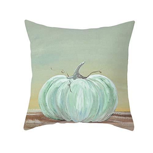 Xisheep Fall Halloween Pumpkin Pillow Case Waist Throw Cushion Cover Sofa Home Decor, Christmas Holiday Party Decoration