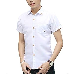 [スティーグル] シャツ yシャツ カッターシャツ 襟 ボタンシャツ カジュアルシャツ 白 長袖 無地 半袖 カジュアルシャツメンズ 韓国ファッション メンズファッション 大きいサイズ ビジネス ボタンダウン オシャレ カジュアル メンズシャツ メンズシャツ大きいサイズ メンズシャツ長袖 メンズシャツ春 麻 大きいサイズ長袖 メンズシャツ七分袖 メンズシャツおしゃれ ホワイト メンズ L