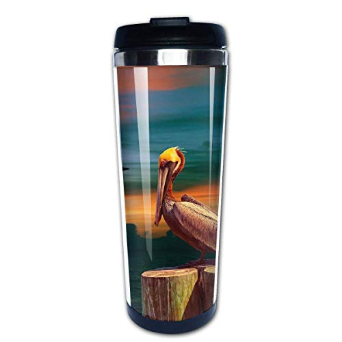 Travel Coffee Mug Pelican Stainless Steel Insulated Coffee Cup Sport Water Bottle 13.5 Oz(400ml) MUG-5294