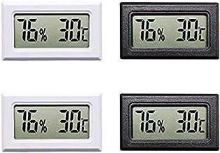 Andifany 4Pcs LCD Digital TermóMetro HigróMetro Medidores Medidor Interior NúMero Grande Pantalla Temperatura Humedad para la Oficina en Casa
