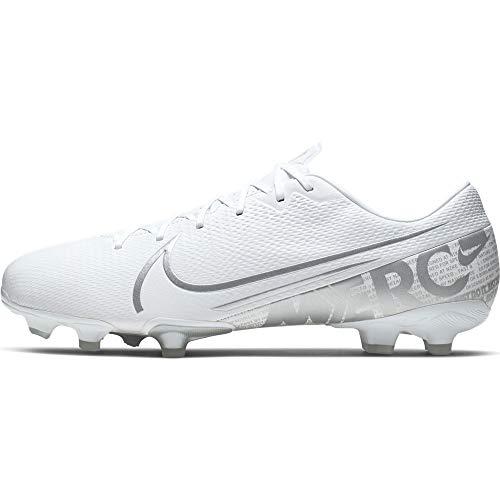 Nike Unisex-Erwachsene Vapor 13 Academy Fg/mg Fußballschuhe, Weiß (White/Chrome-Metallic Silver 100), 45 EU