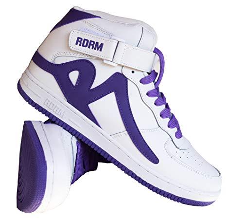 REDRUM Herren Sneakers Sportschuhe Schuhe Streetwear Basketball Forza High Top, White Purple, 40 EU
