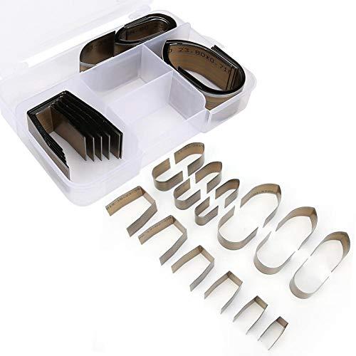 Cortador de orificios de 18 piezas, acero al carbono, para cinturones de bricolaje, carteras, pulseras de reloj, herramienta para manualidades