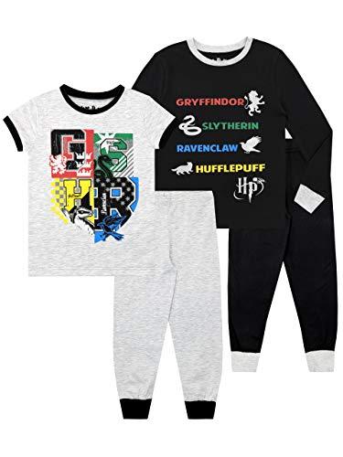 HARRY POTTER Pijamas Paquete de 2 para niños Hogwarts Ajuste Ceñido Multicolor 5-6 Años