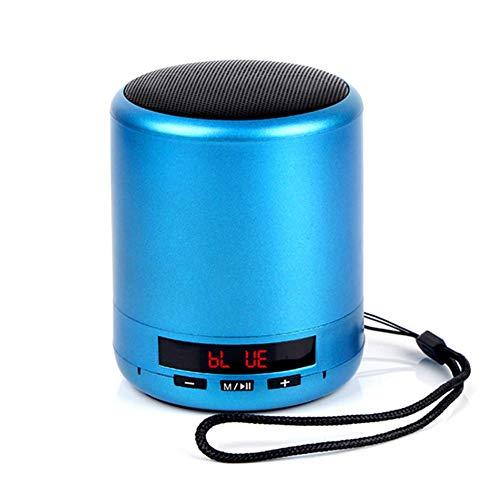 LHFLU-SP Mini Altavoz Bluetooth portátil Columna inalámbrica Bajo Sonido Estéreo Subwoofer Radio FM Manos Libres Tarjeta TF USB Reproductor de MP3 para teléfono,Azul
