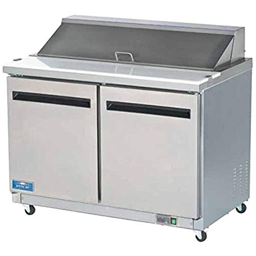 Arctic Air AST48R 48.25-Inch 2-Door Refrigerated Sandwich/Salad Prep Table, 115v