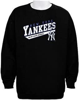 Majestic York Yankees MLB Licensed Crampton Black Sweatshirt Men Big Sizes