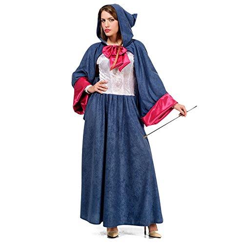 Hada Madrina de Cenicienta Disfraz de seora de Cuento Azul y Rosa - XS