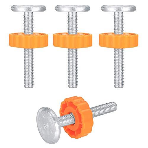 Pineocus 4 Pcs Pressure Baby Gates Threaded Spindle Rods, 10mm Threaded Spindle Rod, Used for Baby Door, Stair Door, Dog Door, Pet Door