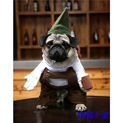 MSSJ Haustier aufrecht lustig lustig Halloween Hund Kleidung Piraten Krieger stehend Katze Kostüm M / 3# Bier jüngerer Bruder