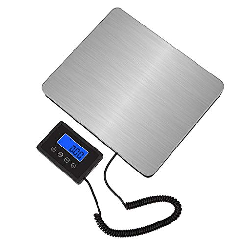YZSHOUSE 180kg 50g Digital Escamas, LCD Grande Acero Inoxidable Paquete Peso Plataforma Equipaje Postal Envío Escala De Paquetes (Size : 180kg/50g)