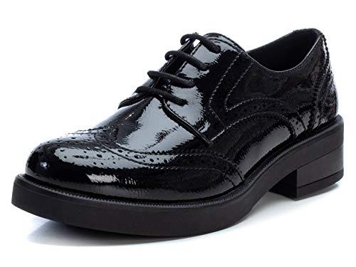 XTI - Zapato para Mujer - Cierre con Cordones - Color Negro