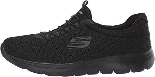 Skechers Damen 12980 Sneakers, Schwarz (BBK), 38 EU