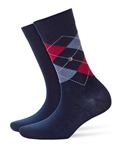 Burlington Damen Socken Everyday - Baumwollmischung, 2 Paar, Blau (Marine 6120), 36-41