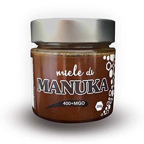 ERBOTECH Miel Manuka 400 + MGO en frasco de 350 g, proviene de NUEVA ZELANDA, probado y certificado para la concentración de metilglioxal (MG) por un laboratorio autorizado en Nueva Zelanda