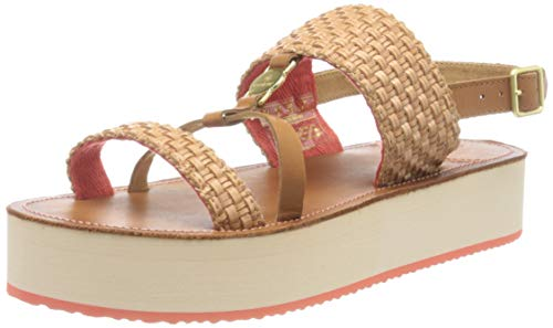 GANT Footwear Damen MIDVILLE Slingback Sandalen, Beige (Cognac/Coral G459), 39 EU
