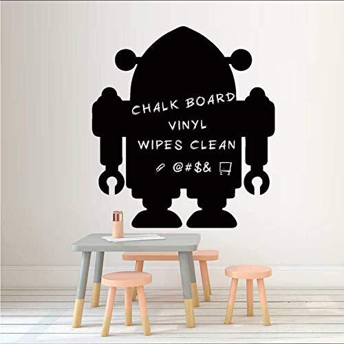 cm DIY Robot Krijtbord Sticker Leuke Cartoon Vinyl Muursticker Interessante Muurkunst voor Kid Boys Kamer Woondecoratie 53 * 58Cm