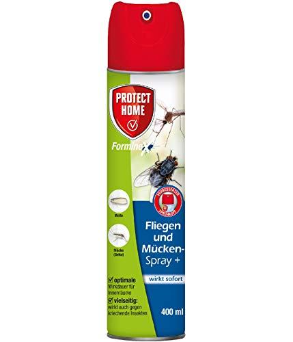 PROTECT HOME FormineX Fliegen-und Mückenspray + gegen fliegendes Ungeziefer, ideal zur Anwendung in Innenräumen, 400 ml, Spray