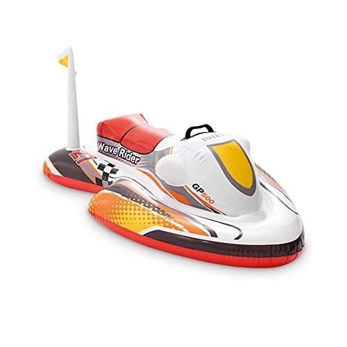 Barca hinchable con el motor, juguete de piscina para niños, juguete de fiesta en el agua para flocar en la piscina.
