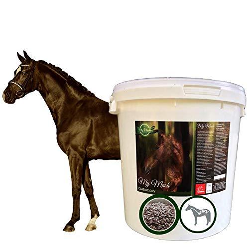 EMMA Mash Pferd I Omega 3 Ergänzung haferfrei I Mash Pferdefutter + Leinsamen geschrotet I alte Pferde bei Zahnprobleme I vorbeugend Verdauungsprobleme Kolik Kotwasser Durchfall beim Pferd 8 kg