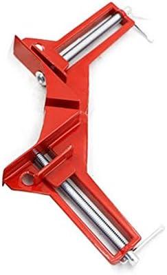 XuCesfs 90 graden haakse klem DIY glas snelle bevestiging clip houtbewerking fotolijst klemmen kleur rood